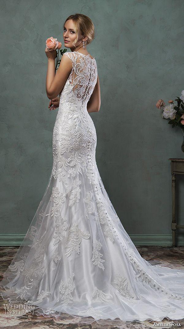 Amelia Sposa 2016 Wedding Dresses | Beautiful, Scallops and Wedding