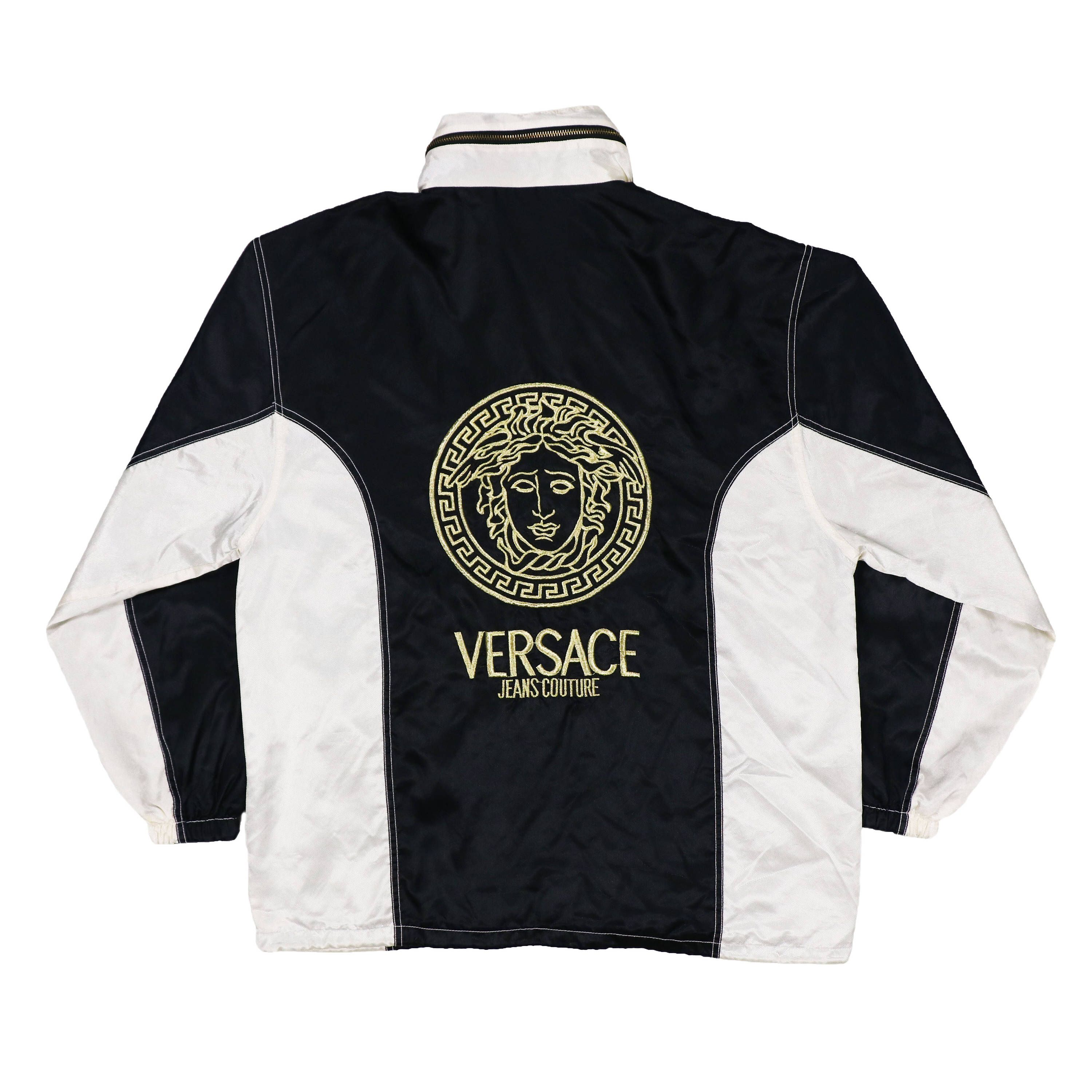 98389773c Excited to share the latest addition to my  etsy shop  Vintage VERSACE Big  logo Windbreaker Jacket Hoodie  clothing  jacket  versacejacket   versacebomber ...
