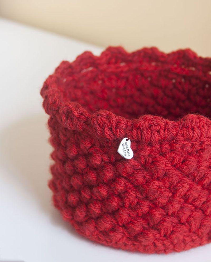 Detalles para trabajos ganchilleros crochet basket - Cestas de ganchillo ...