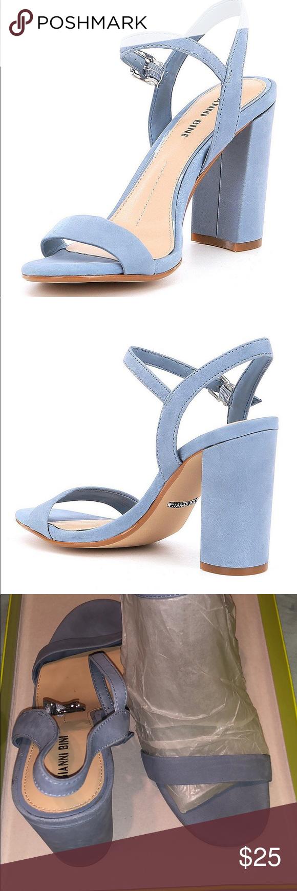 323b25e6edb Gianni Bini Mckaria block heel dress sandal Only worn once ! Comes with box  and original