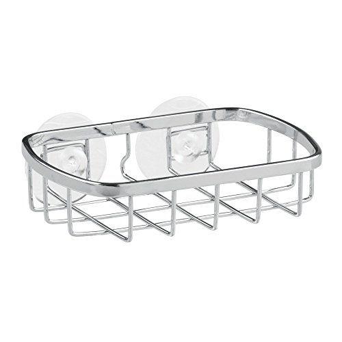 InterDesign Suction Bar Soap Holder For Bathroom Shower U2014 Chrome/Stainless  Steel  