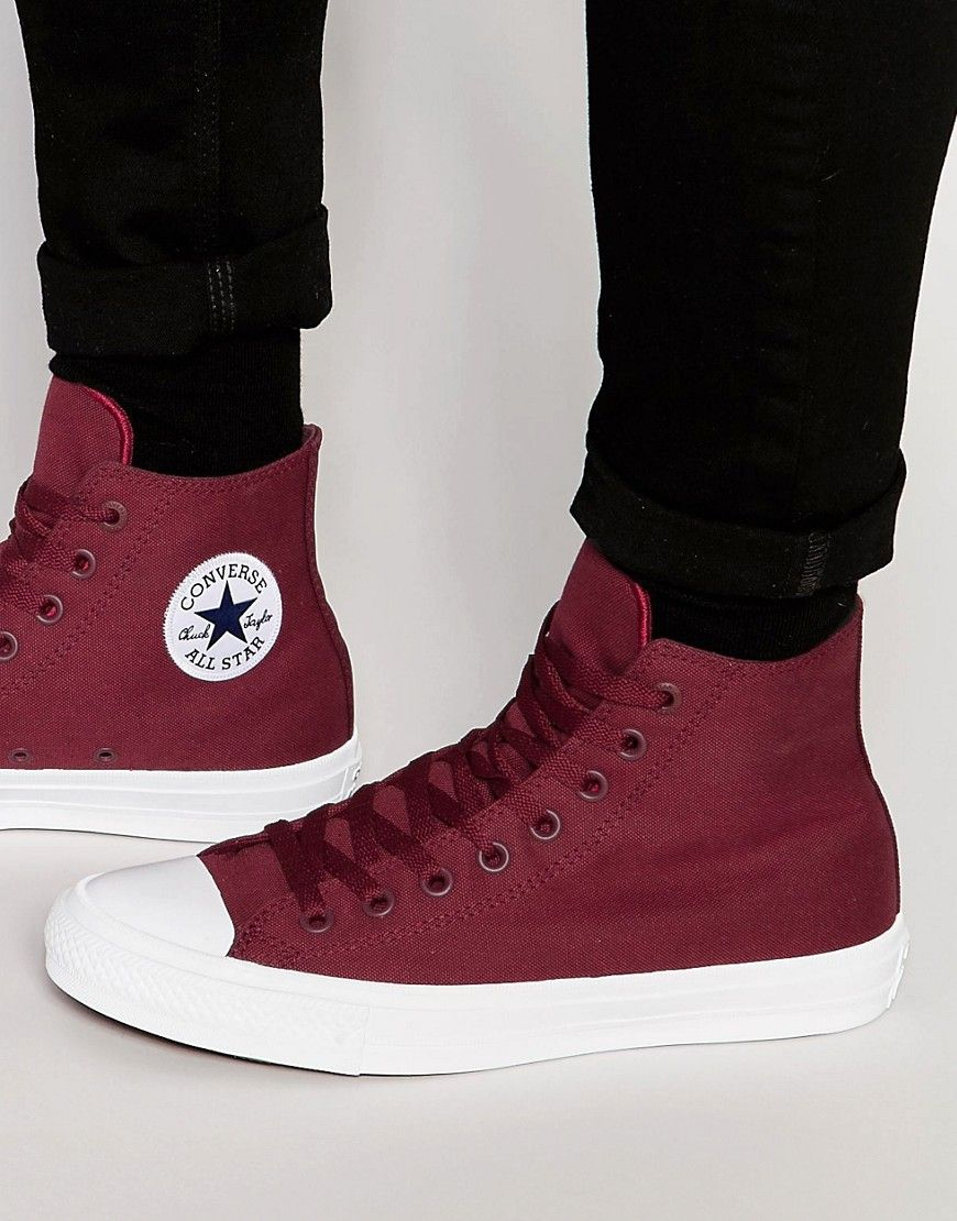 d074fbaf744e Converse Chuck Taylor All Star II Hi-Tops In Red