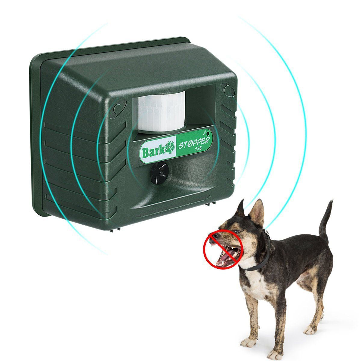 Ultrasonic Dog Barking Controller Bark Deterrent Outdoor Animal Repellent With Motion Sensor Garden Yard Animal Deterrent Against Dog Dog Barking Dogs Animals