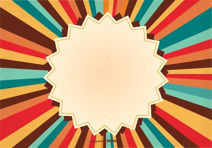 Retro Sunburst Background Illustration 139961 Vintage Texture Template Tag Sunrays Sunburst Background S Retro Background Vector Art Design Retro Style Posters