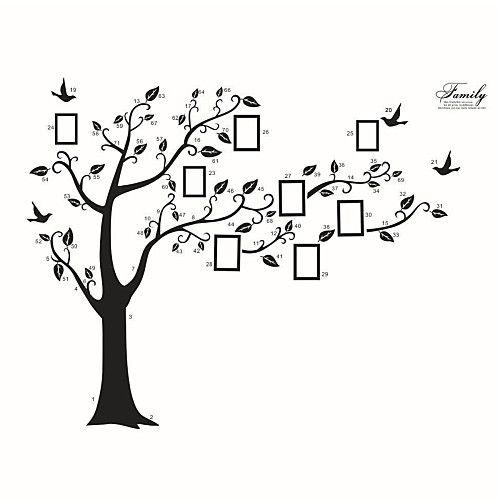 Botánico Caricatura Pegatinas De Pared Calcomanías De Aviones Para Pared Calcomanía Pegatinas De Pared Calcamonías De Pared De árboles Pegatinas De Pared árbol