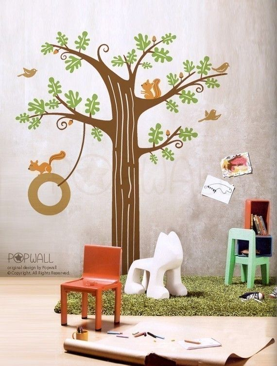Wall decals Wall stickers  Animal Friends in Woodland  by NouWall, $98.00