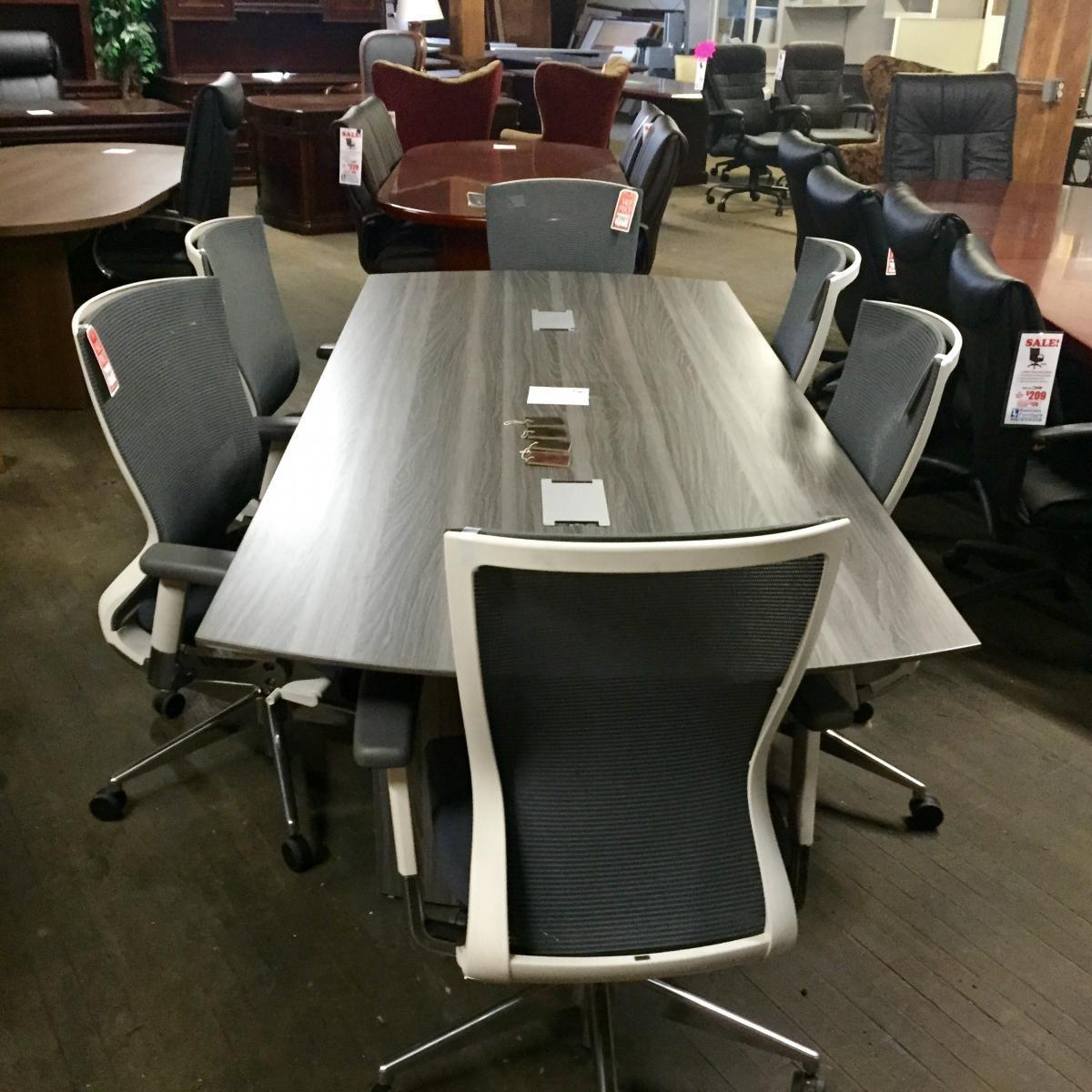 Mayline Medina Conference Table With Cherryman IDESK Orblanco Chairs - Medina conference table