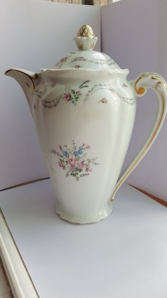 Vintage Porcelain Limoges France Large Chocolate/Coffee/Tea Pot ...