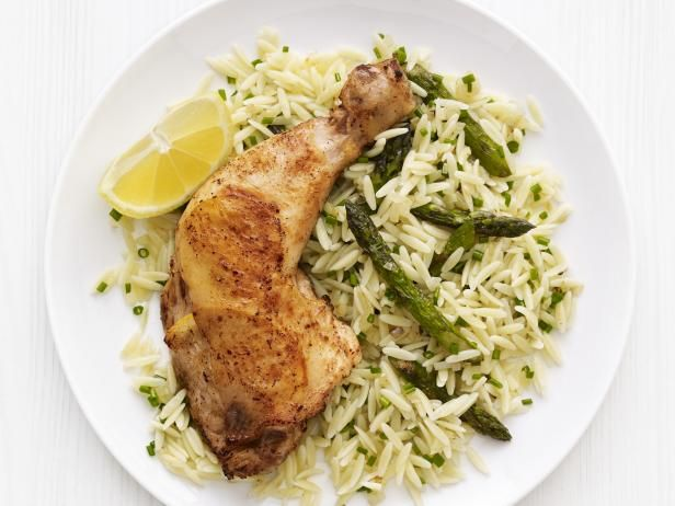 Roast Lemon Chicken With Orzo Recipe Poultry Recipes Lemon