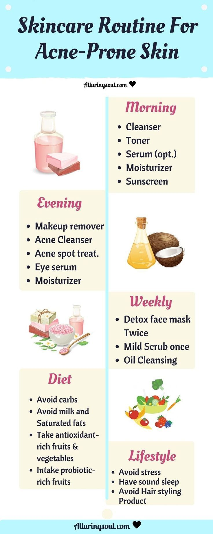 Quit Acne Using Natural Skin Care Guide For Acne Prone Skin And Give Your Skin Nutritional Food Through Nature And A Skin Care Guide Acne Prone Skin Acne Prone
