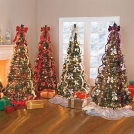 flat to fabulous fully decorated pre lit 6ft tree christmas brylanehome - Pull Up Fully Decorated Christmas Tree