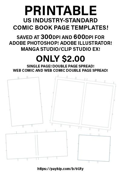 Downloadable US Comic Book Paper Templates for Adobe Photoshop ...
