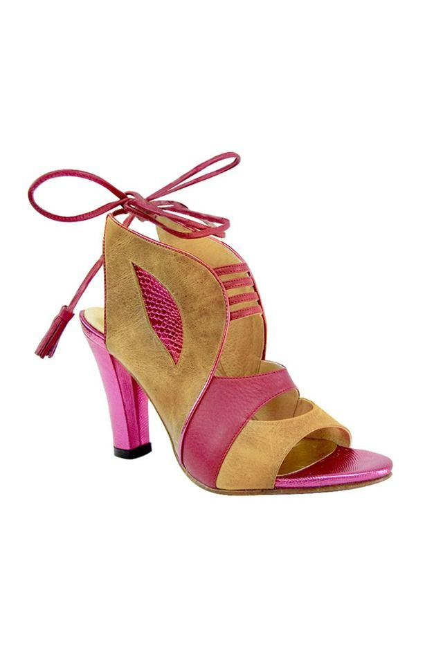 Pring Paris Pring Paris shoes heels brown pink Kenny brown and pink heel