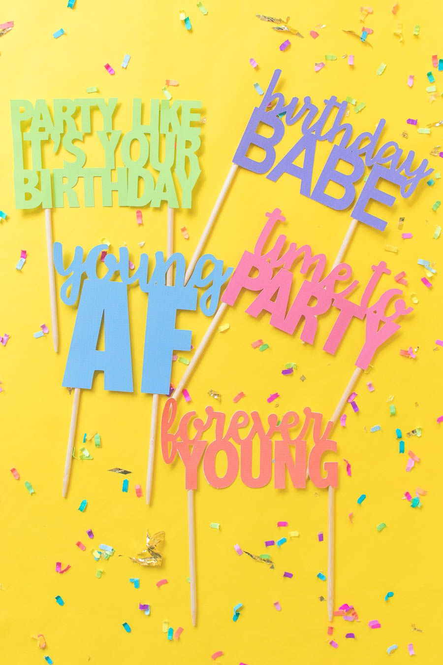 Printable Cake Toppers for Birthdays (+ Free SVG Templates