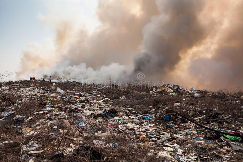 Burning Garbage Heap Of Smoke From A Burning Pile Of Garbage Affiliate Heap Garbage Burning Pile Bur Garbage Sun Conjunct Pluto Stock Images Free