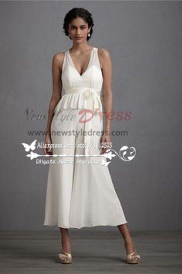 Wedding Dresses Culottes Jumpsuit Tea Length Pants Wps 007
