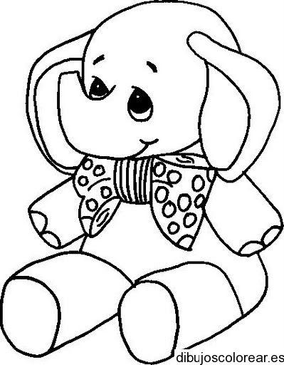Dibujo de un elefante con un lazo | Templates | Pinterest | Pintar ...