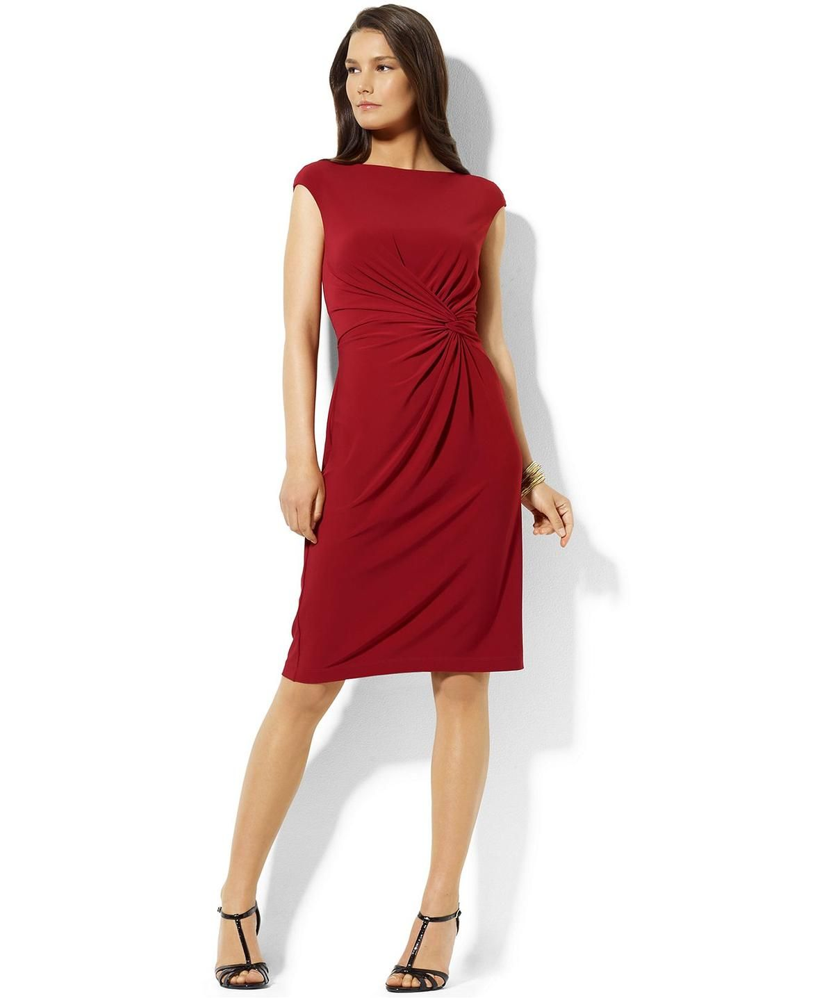 Petite red sheath dress — 4