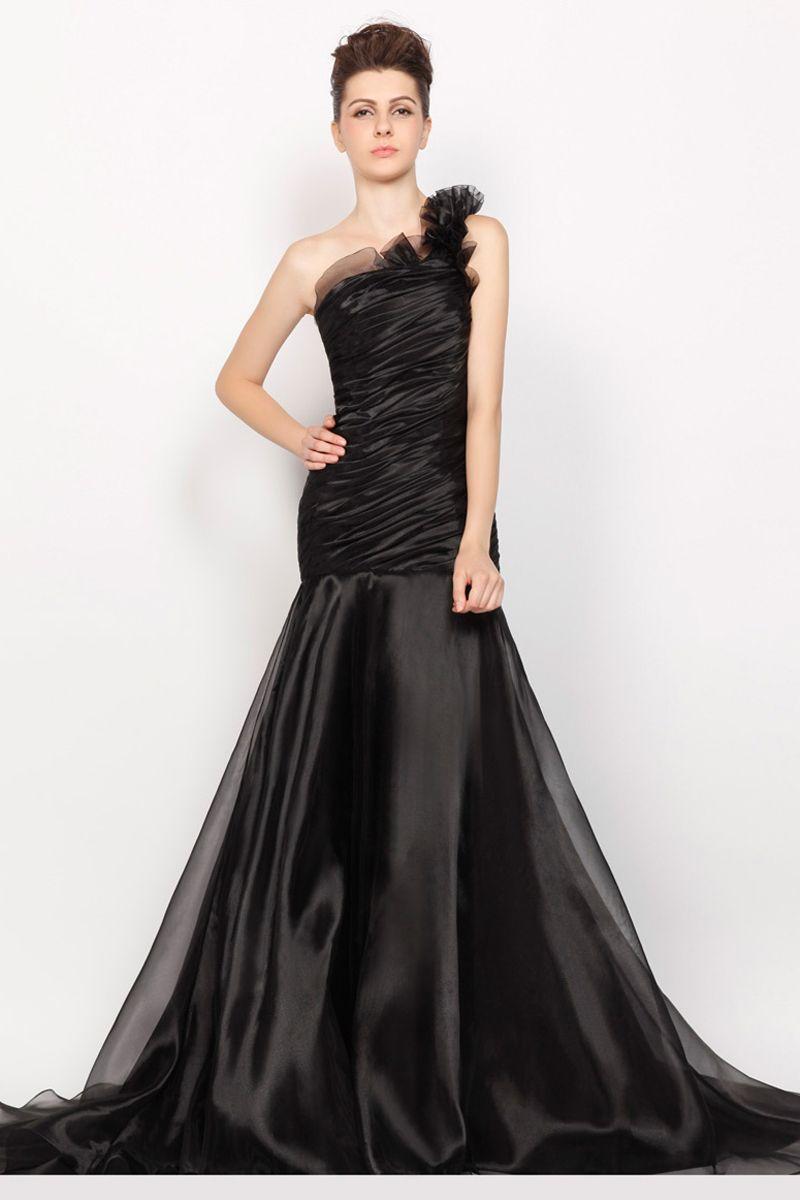 Best black organza floorlength aline prom dress mode pinterest