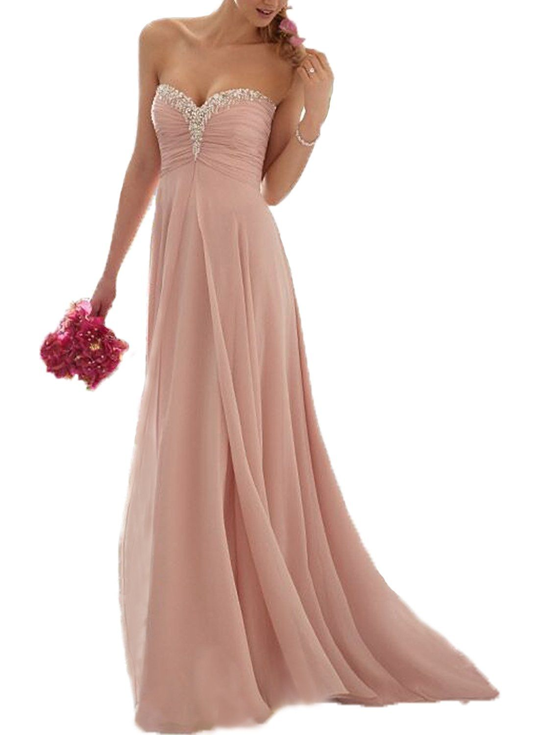 Now And Forever In Stock Sweetheart Beaded Coral Bridesmaid Dress