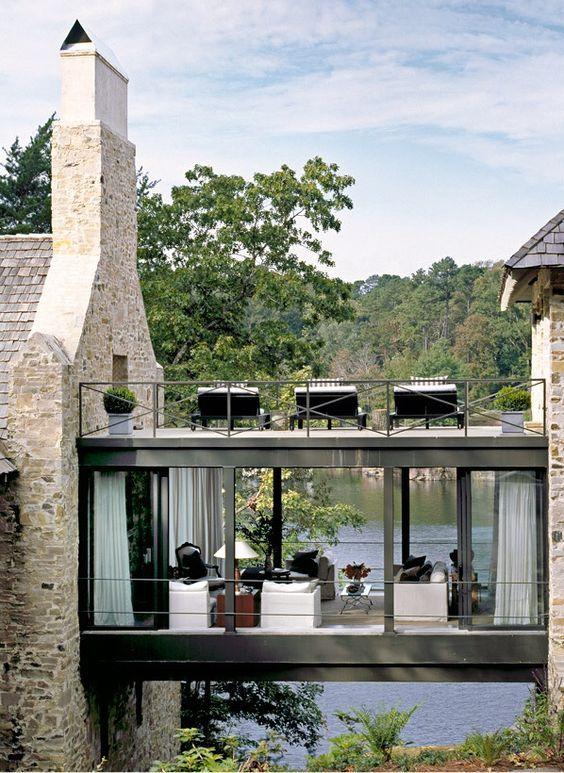 Veranda Originale inspiration du jour pour cette terrasse originale créée sur le toit