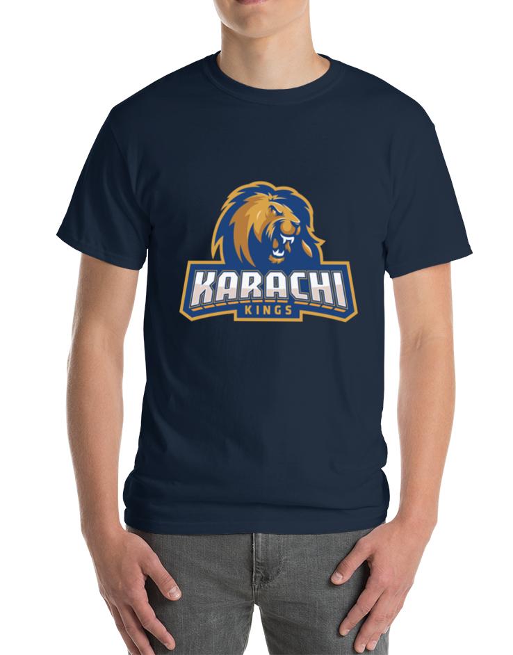 Karachi Kings T Shirt Psl King Tshirt Shirts Fan Shirts