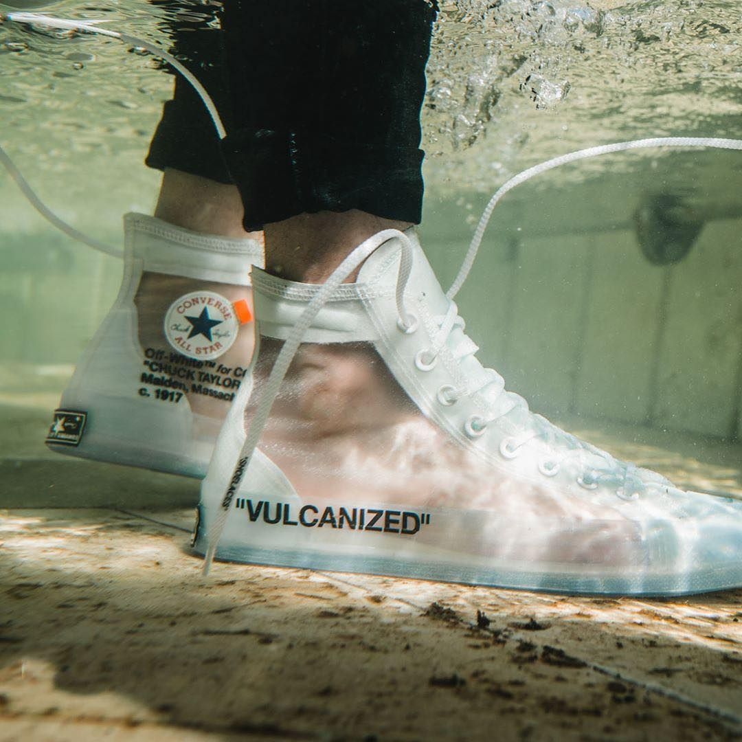 9657960652181e The Virgil Abloh x Converse Chuck Taylor just dropped on Converse.com. Sizes  are still available.…""