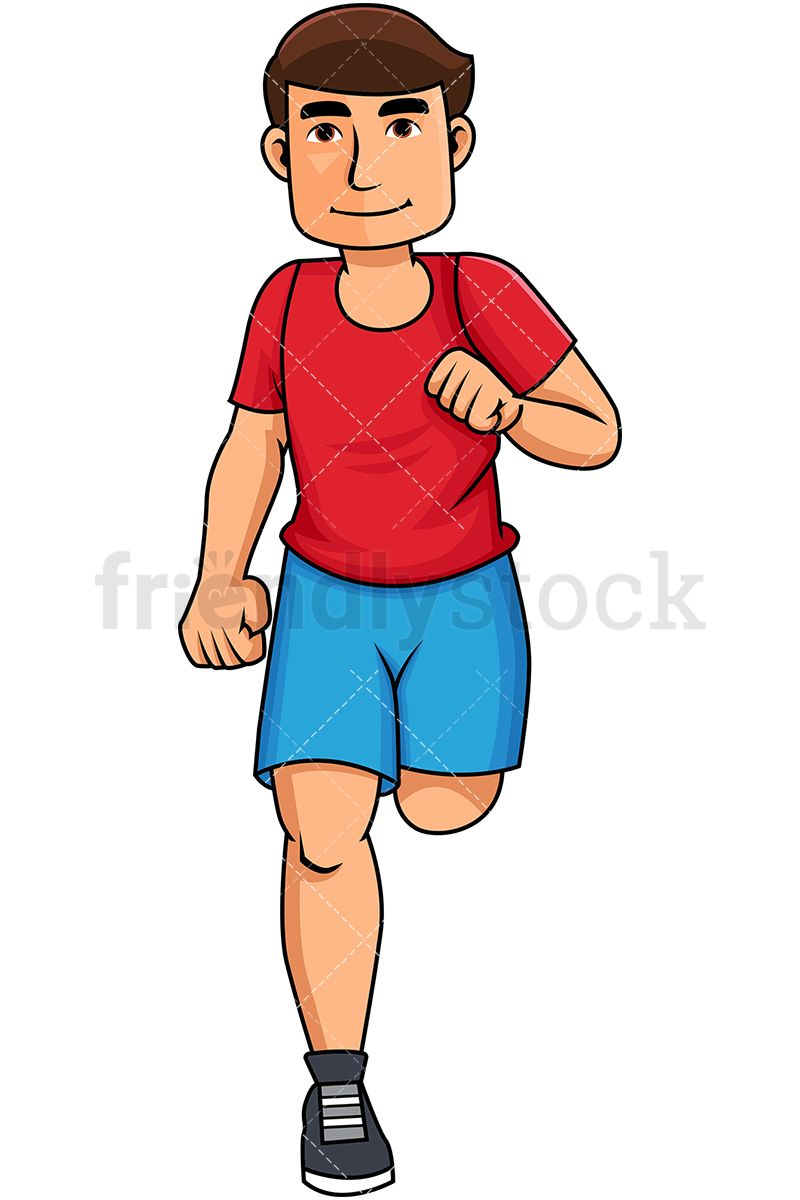 hight resolution of young man jogging for exercise royalty free stock vector illustration of a healthy young man running and smiling friendlystock clipart cartoon vector