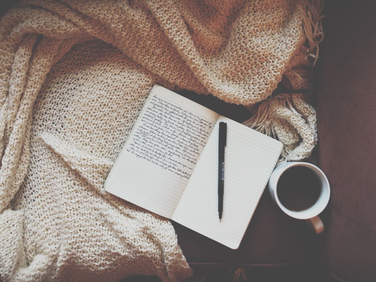 agirlnamedpaul:   Morning pages and black coffee.... / Tea, Coffee, and Books