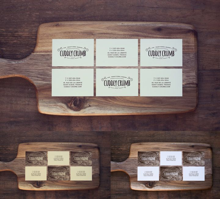 Business cards on a wooden cutting board included 2 vintage business cards on a wooden cutting board included 2 vintage effects this mock up reheart Choice Image