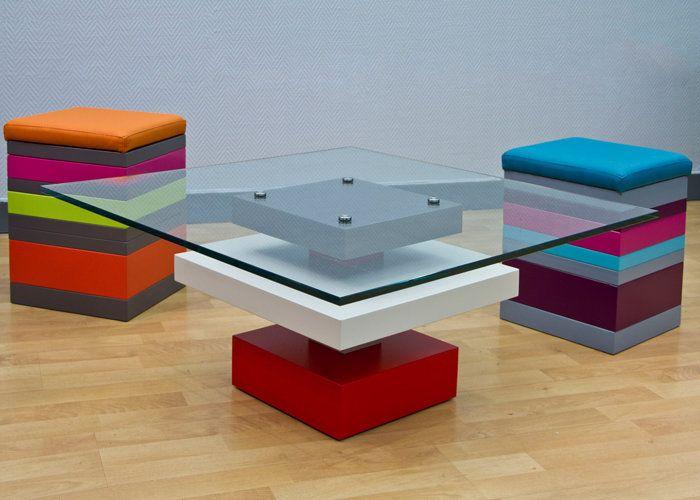 design intrieur colore table basse en verre pied g carre les pieds sur la table mobilier dco dintrieur color pinterest design table - Pied Pour Table Basse En Verre