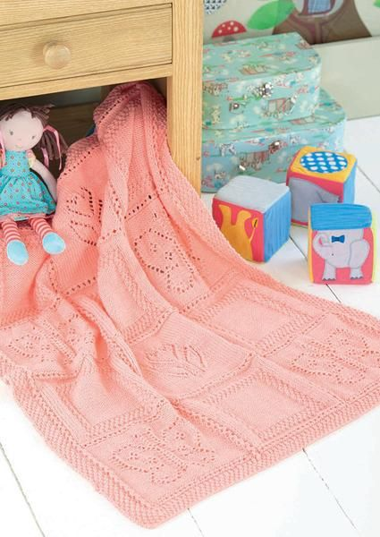 5fa633e37 Butterfly and Motif Flower Blanket in Sirdar Snuggly DK (4528 ...