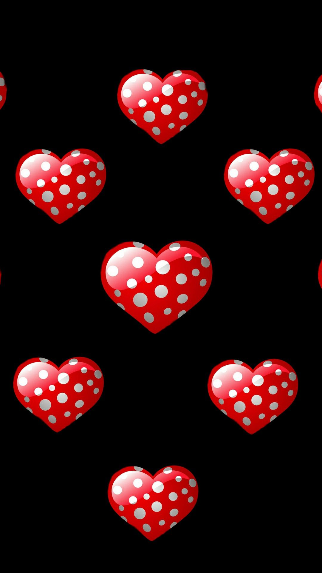 Red Poke A Dots Hearts Heart Wallpaper Love Wallpaper Dots Wallpaper