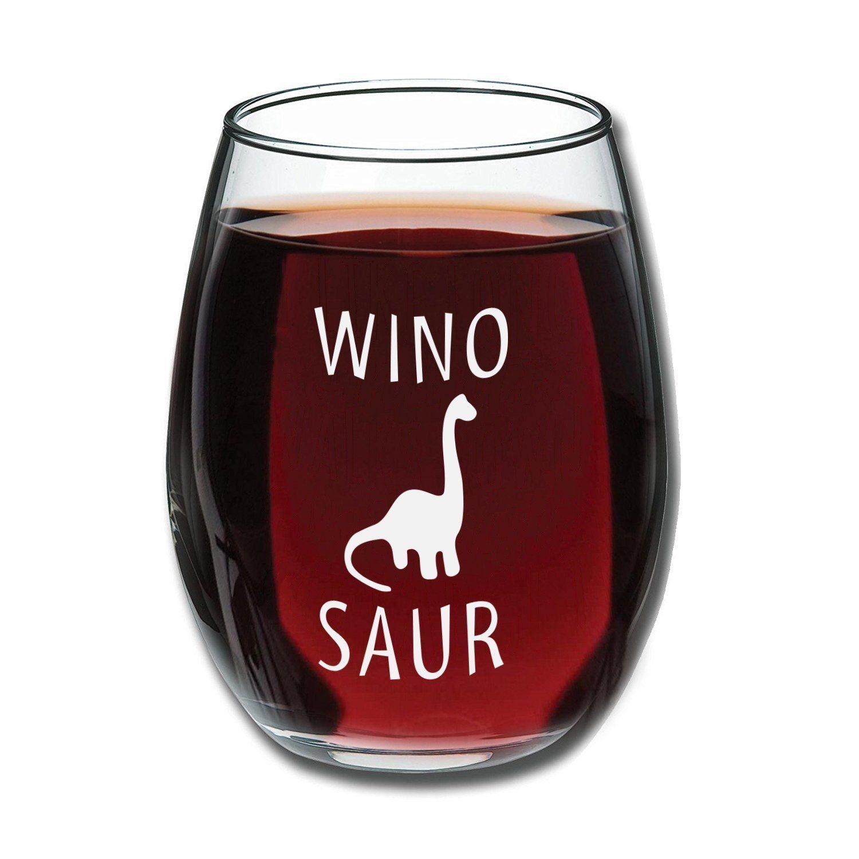 Winosaur Wine Glass Gift Giftidea Gadget Family Men Women Kids Home