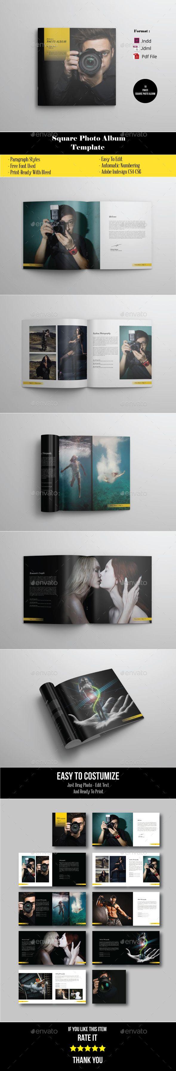 18 Pages Square Photo Album Portofolio Photographer | Pinterest
