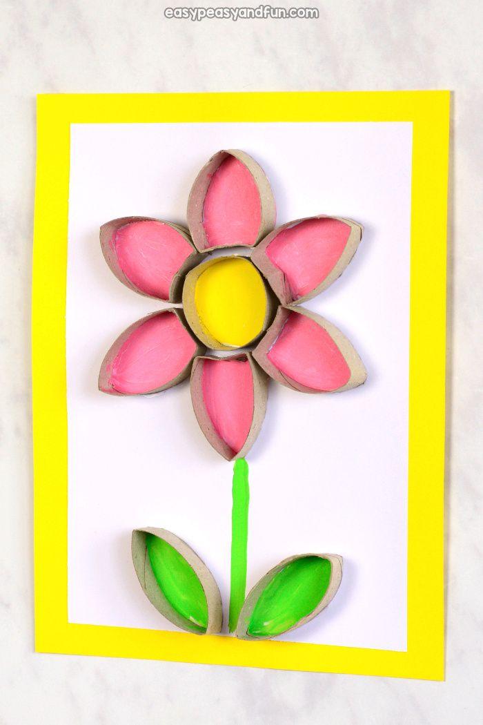 Flower Toilet Paper Roll Craft Kids Craft Stars Toilet