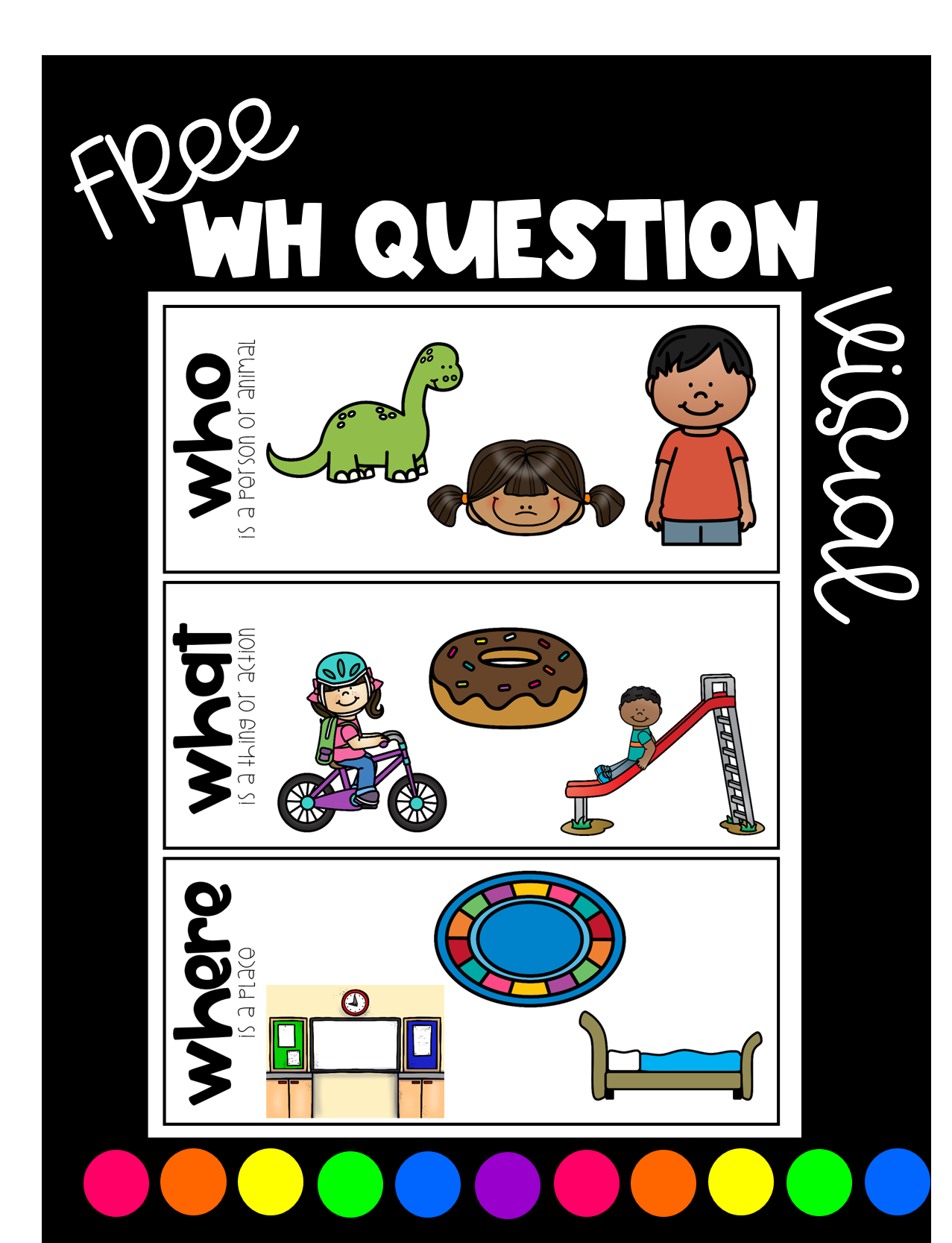 Free Wh Questions Visual