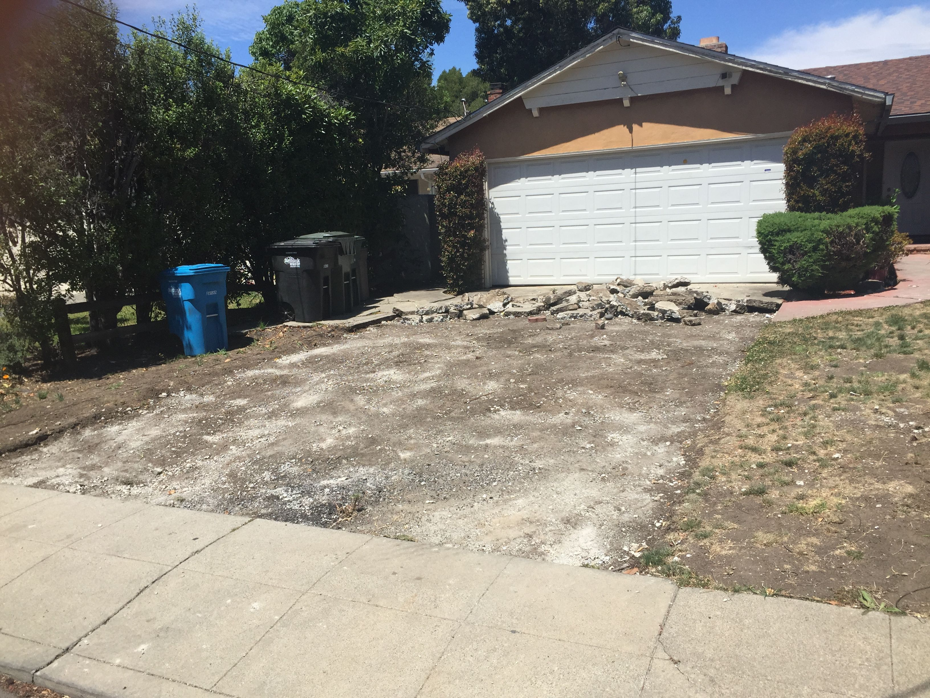 and the cracked driveway is gone our menlo park listing remodel