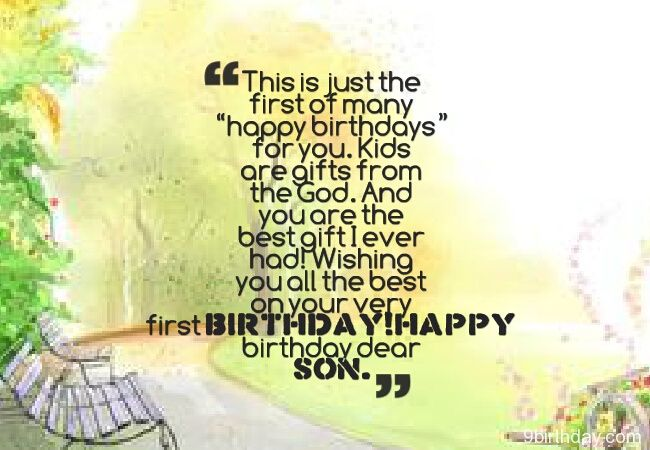 Happy Birthday Wishes Quotes For Son And This Is Jut The First Of