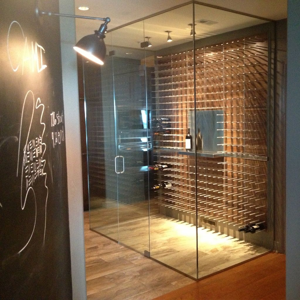 Glass enclosed wine cellar - Modern Cellars Belong In The Kitchen Not In A Dark Cave Www Getstact