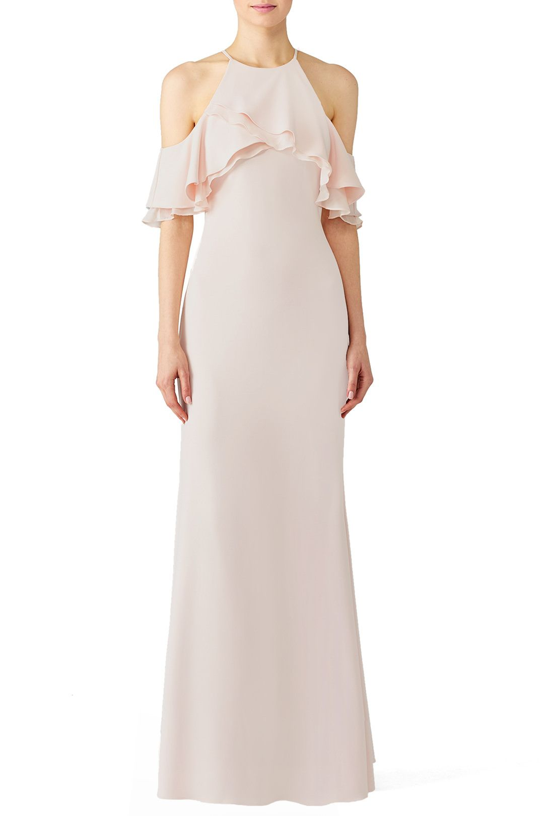 Rent Blush Crossover Gown by Badgley Mischka for $115 only at Rent ...
