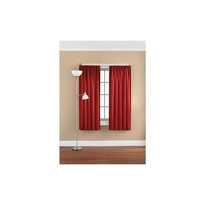 "Mainstays Solid Room Darkening Curtain Panel 54"" X 95"", Red Sedona"