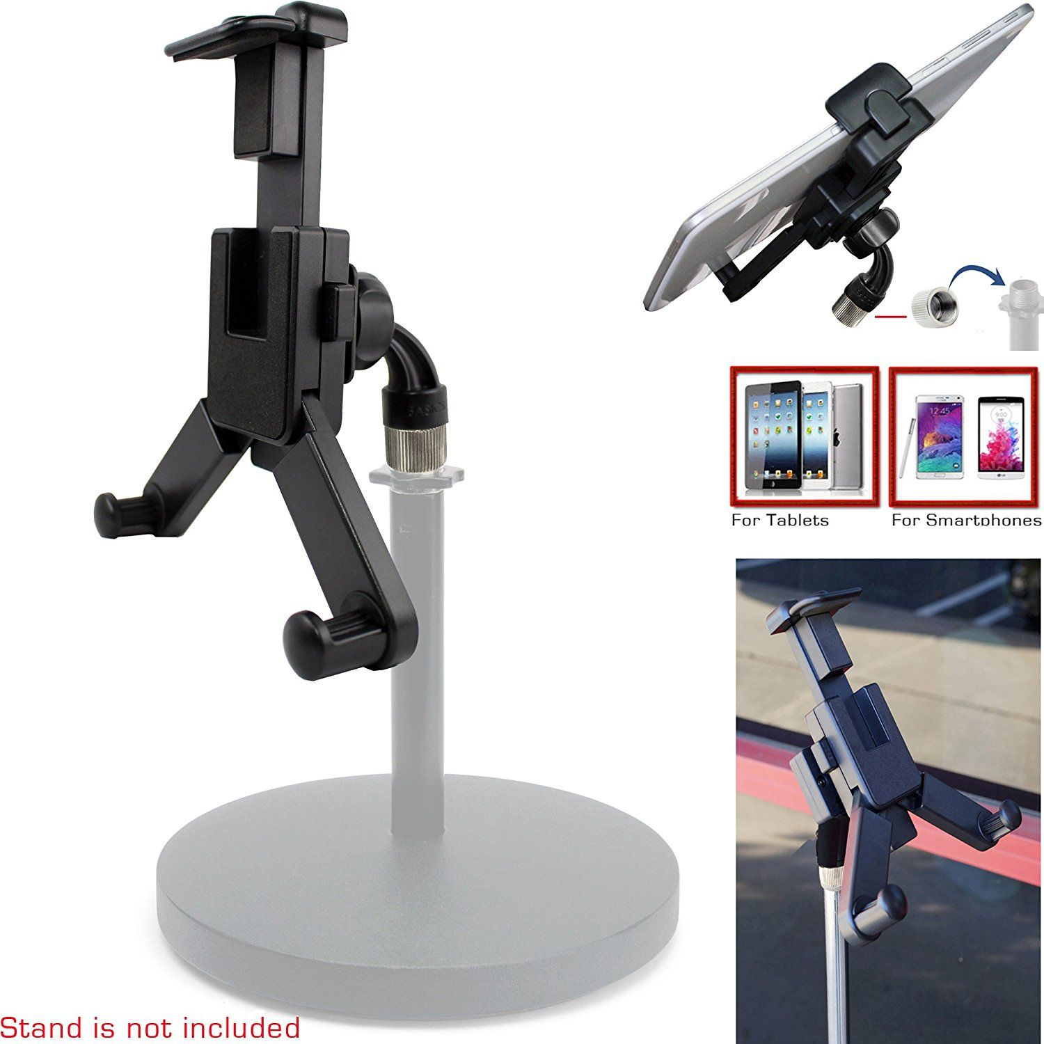 24 95 chargercity 360Â swivel smartphone tablet mount holder w