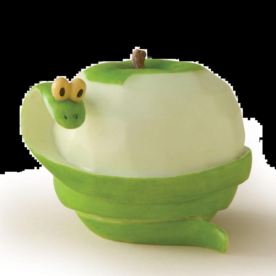 Green apple snake by enesco a home grown fruit u vegetable