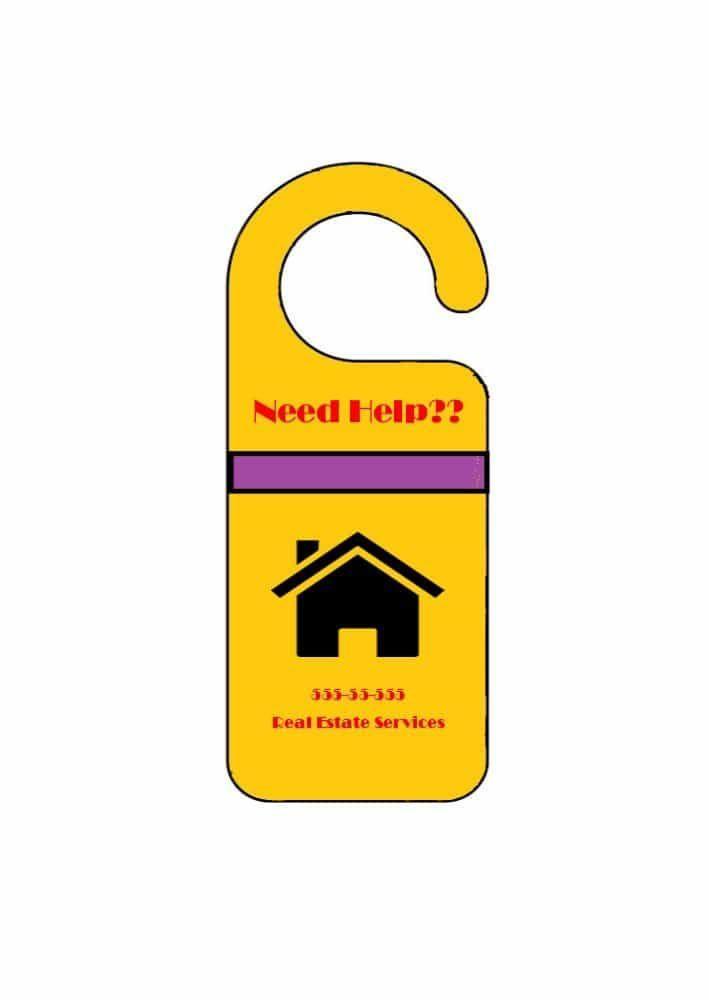How to make door hangers in Microsoft Word VBS Pinterest Door