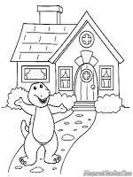 Mewarnai Gambar Rumah Barney And Friends Caloring Page Pinterest