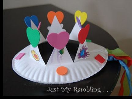 Princess Paper Plate Crown. Love simple crafts that my little ones can make. & Princess Paper Plate Crown. Love simple crafts that my little ones ...
