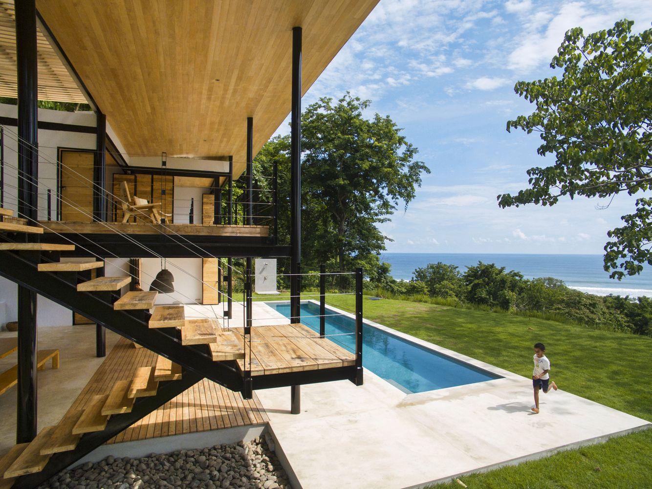 Amerikanische moderne moderne häuser kleine häuser moderne architektur costa rica strandhäuser terrasse holztüren holz
