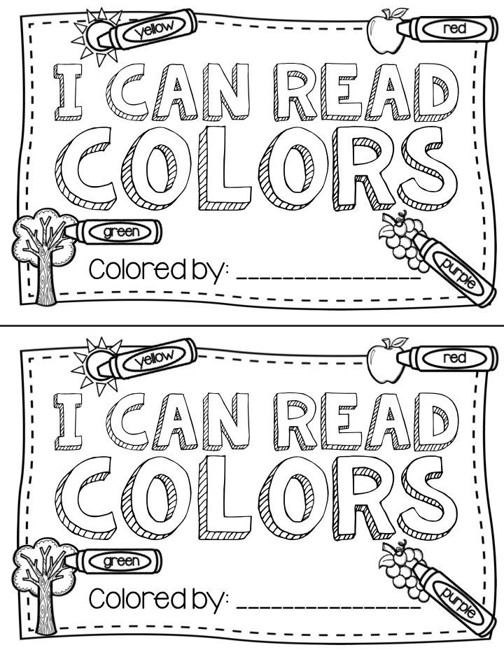 free printable color words book that kindergarten kids can color. Great to use in guided reading groups or at the beginning of the year.
