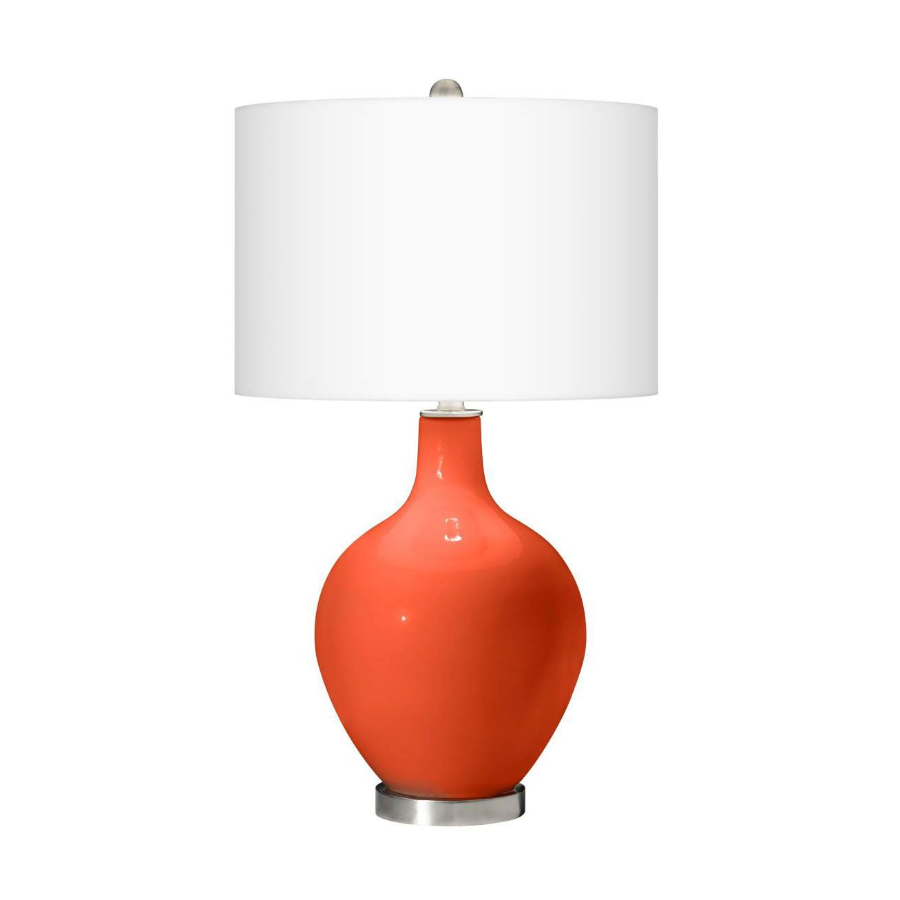 Be bold with this orange table lamp with its soft shape and be bold with this orange table lamp with its soft shape and modern linen shade aloadofball Choice Image